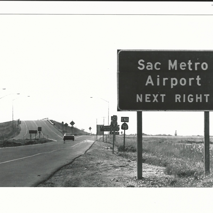 Highway Exit to SMF - 1982