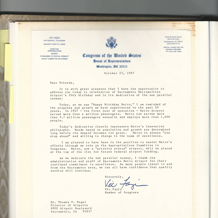 20th Birthday Fazio Letter - 1987
