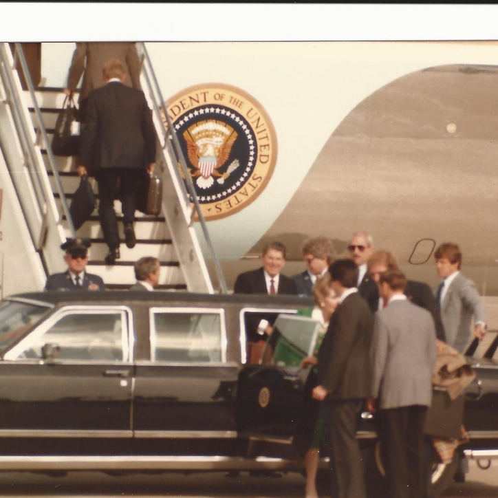 Reagan's Leaving Car