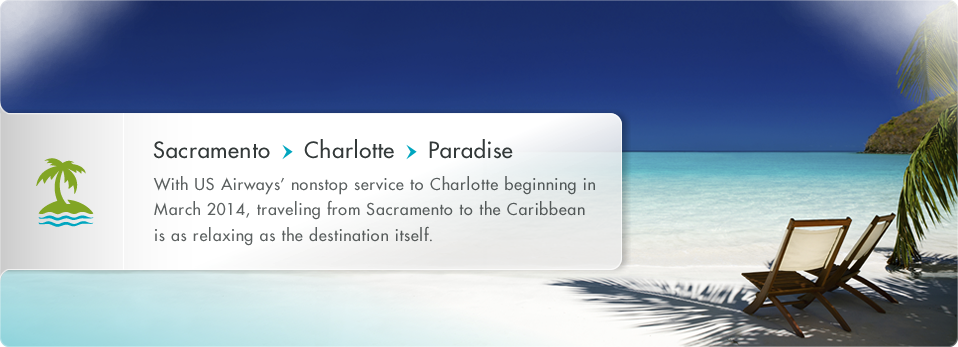 US Airways - New Service from Sacramento to Charlotte