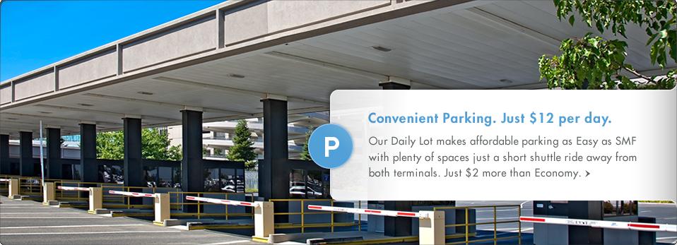 Convenient Parking. Just $12 per day.