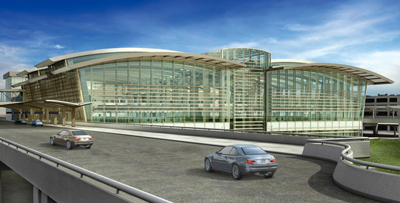 Terminal B architectural rendering